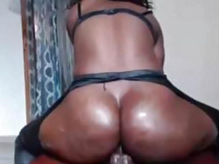 Cam ebony girl anal...
