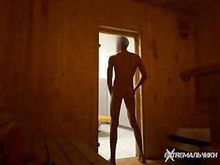 Solo in public sauna...