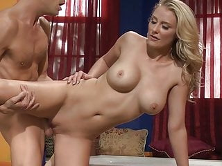 Amazing scene with blonde