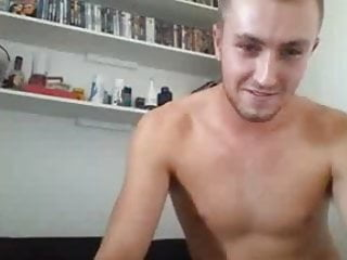 Blonde uk guy showing his cock ass...
