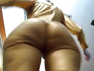 White mature booty slap grab flexin...