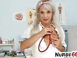 Hot blondie Kristina Rud is naughty nurse
