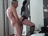 Bondage girl gets a horny surprise