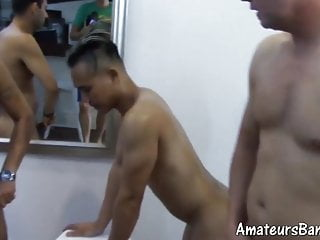 Fresh amateurs fucked by experienced daddies in foursome