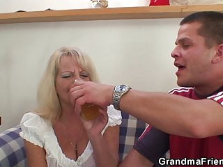 sexy threesome with blonde party Hot grandma