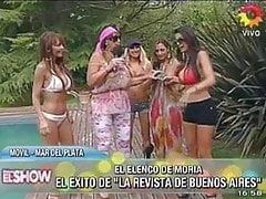 Andrea Rincon, Lorena Liggi, Stefania Xipolitakis en la pile