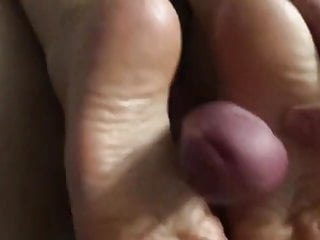 My wife wrinkled soles footjob