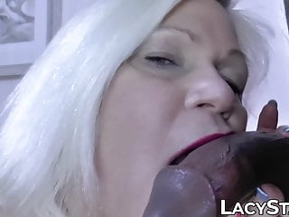 Cheating granny anally creampied by lover BBC