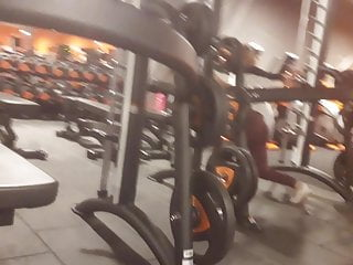 Teen butt at gym