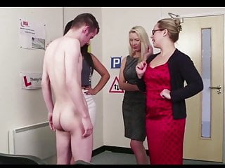 3 english ladys give boy theory test with...