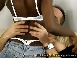 Teen from africa in trio...
