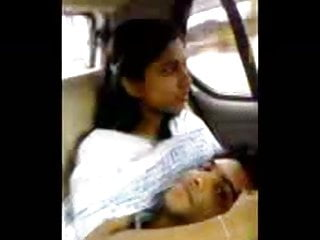 Desi boy and girls in car