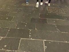 Teen Chavs In Wet Look Leggings