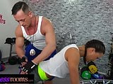 Fitness Rooms Married Euro couple wild fuck and deepthroat