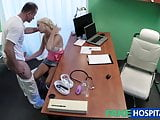 FakeHospital Skinny blonde patient caught playing with pussy