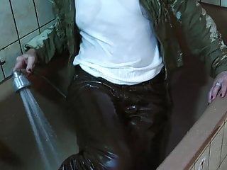 wet leather in the bath