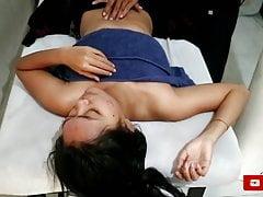 Beautiful Aunt Sasha Take a Massage - So Sexy and Nice Tits