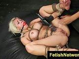 FetishNetwork Bibi Miami busty bound sex