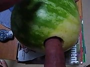 Having fun with a watermelon