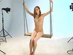 Bare Thrills 4 - striptease on a swing