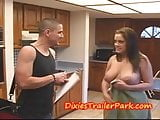Cheating babe CREAM PIED by PLUMBER