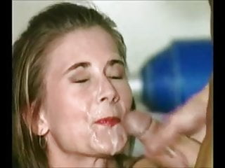 2 cocks give 2 facials on a lovely face