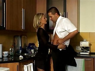 Black Stockings CHRYSTAL Hard Fucking In kitchen