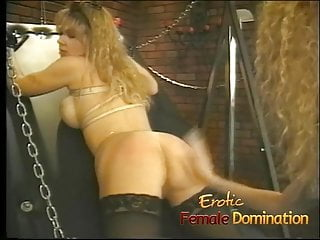 Curvy busty blonde slave flogged really...