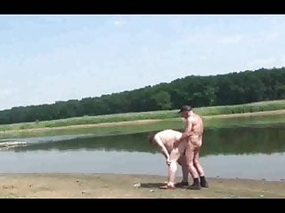 Old men fuck Fat Dad outdoor