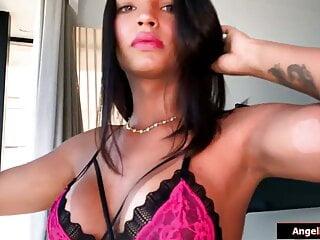 Big tits latina shemale beauty julie rouch jerking...