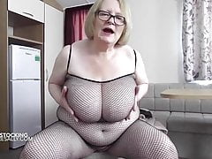 Granny with big natural boobs