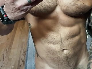 Hunk stripper man show nude all body...