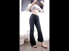 Hijab Muslim Indo Girl Striptease And Masturbating
