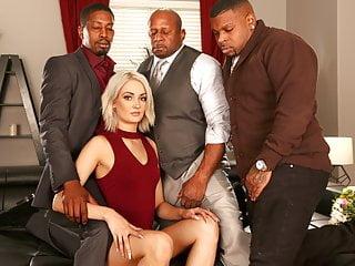 Interracial Double Penetration Blonde vid: Gangbang For Anniversary - Zoe Sparx