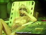 Blonde Woman's Sex Affair with a Boy (1970s Vintage)