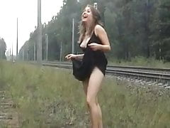 Smoking by the railway!