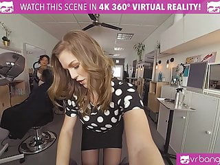 VR BANGERS Hot Hairdresser Fucked Hard and Facial