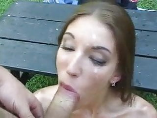 Cum in eye after for cutie...