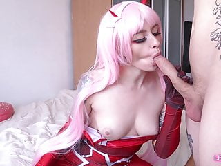 Cosplay Teen 02 Zero Two Blowjob Fuck Anal Cum In Mouth