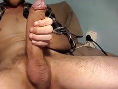 Big daddy wanking off big cock