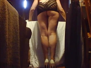 Ironing & Heels Flashing Ass Housework In Lingerie Upskirt