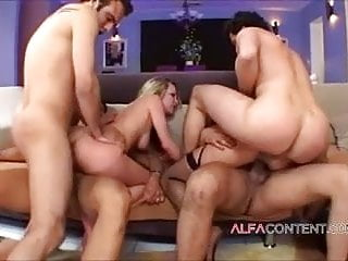Double Penetration Blowjob Facial video: Hardcore crazy orgy done just right