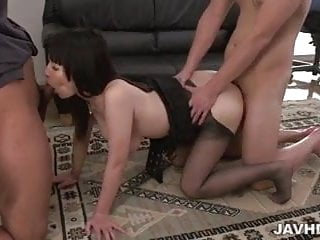Rina Mayuzumi office hardcore with several men