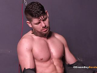 Muscle Jock Connor Halsted Face Fucked BDSM Gay Bondage