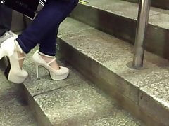 Candid High Stilettos From Chinese Girls