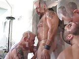 A Great Bareback Daddy Orgy