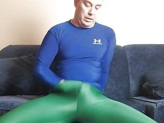 Spandex boy green leggings...