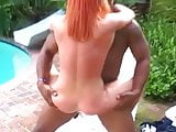 British slut Donna Marie gets fucked by the pool