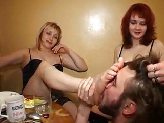 Three mistress get slaved a pathetic boy...
