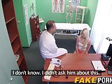 Hot blonde Lucy getting doggystyle at the doctors office